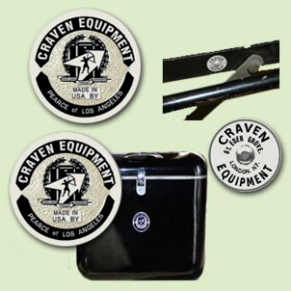 Craven Decals   DECAL SET FOR US MADE CRAVEN/PEARCE LUGGAGE