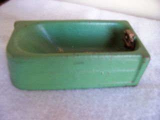 VINTAGE 1930s ARCADE CRANE BATHROOM BATH TUB LARGE CAST IRON w/ ORIG