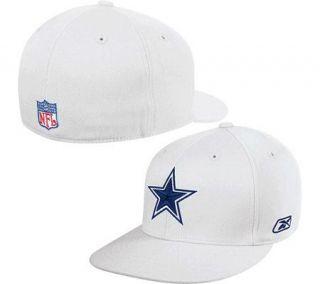 NFL Dallas Cowboys Sideline Flex Flat Brim Hat  White —