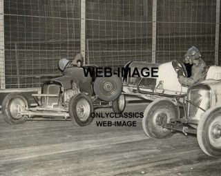 Harley Davidson Racing Car Midget Crash Photo Bronx NY