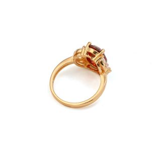 9K Yellow Gold Filled CZ Ruby Womens Ring Size 8 R240