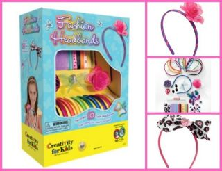 Creativity for Kids Fashion Headbands Kids Craft Kit New