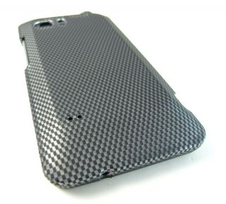 Carbon Fiber Design Hard Case Cover HTC Vivid Raider Velocity 4G Phone