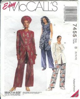 African Ethnic Costume Sewing Pattern Men Unisex Dashiki Robe Caftan