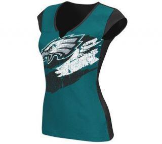 NFL Philadelphia Eagles Face Paint Split NeckT Shirt —