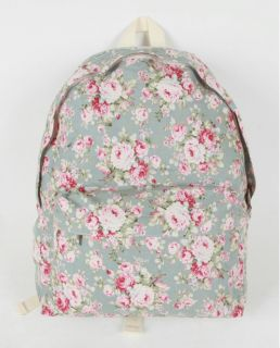 Print Bookbag Shoolbag Cute Backpack Cotten Fabric Spring Color