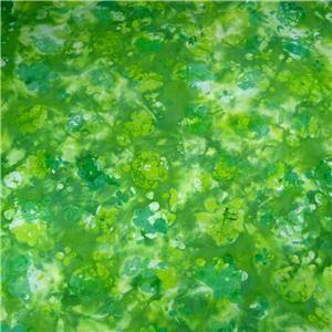 Fabriquilt Cotton Fabric Bright Paradise Batik Plant Impressions