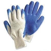 Pair Large Blue Rubber Coated Work Gloves Spendless