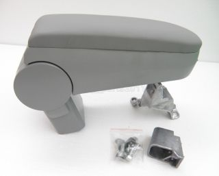 Gray Leather Armrest Console for VW Jetta 99 04 Bora Golf MK4 GTI