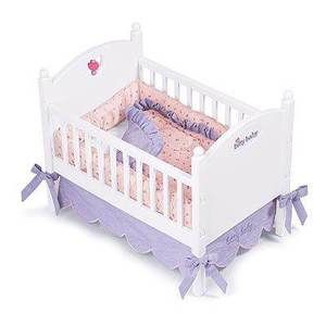 American Girl NIB Bitty Baby Doll Crib and Bedding Retired but new in