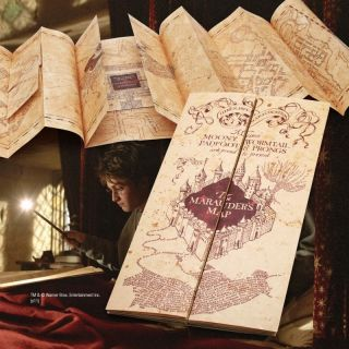 HARRY POTTER OFFICIAL COLLECTOR MARAUDERS MAP PARCHMENT PROP REPLICA