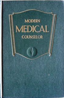 1943 Modern Medical Counselor Health Medicine Book Color Plates