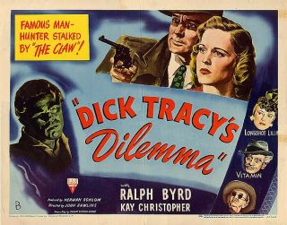 Sunday Funnies Crime Stopper Dick Tracys Dilemma 1947