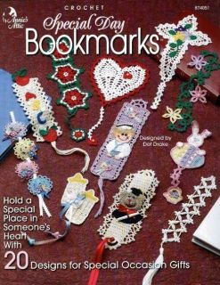 20 Special Day Bookmarks Christmas Nurse Cross Bears Crochet Patterns
