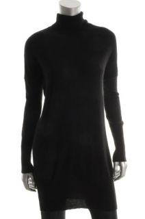 Cris Los Angeles New Black Cashmere Long Sleeve Turtleneck Sweater XS