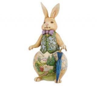 Jim Shore Heartwood Creek Rabbit with Spring Scene Figurine —