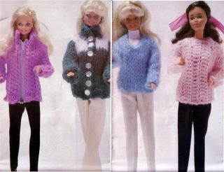 Vintage Simplicity 0439 Fashion Doll Knit Crochet Wardrobe Pattern