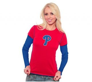 MLB Philadelphia Phillies Womens Double LayerT shirt —