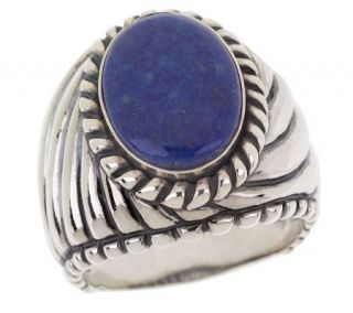 Carolyn Pollack Sterling Lapis Cabochon Ring —