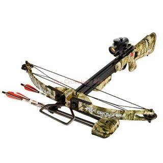 PSE 150lbs Crossfire Crossbow Red Dot Scope Quiver + 3x Arrows