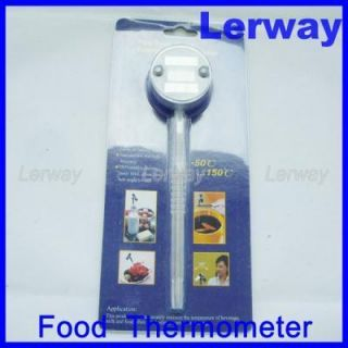 Digital Kitchen Food Cooking Thermometer Probe Solar Energy Powered