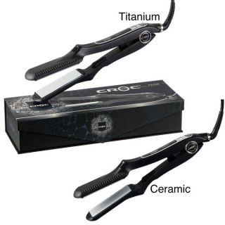 New Croc Turboion Nano Black Titanium Hair Flat Iron 1 5 straighten