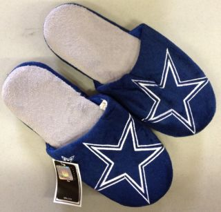 Pair Dallas Cowboys Big Logo Slippers 2011 New NFL Two Toned House