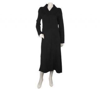 Susan Graver PlushKnit V neck Sweater Dress —
