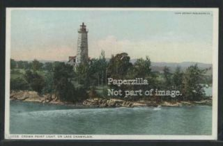 NY Port Henry Phostint C07 Crown Point Light House Lake Champlain