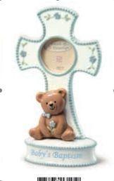Blue Baby Boy Christening Baptism Religious Cross Gift