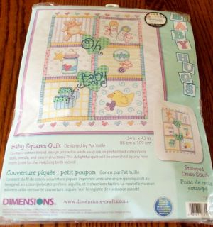 Oh Baby Quilt Cross Stitch Kit 34x43 by Dimensions Brand New NIP