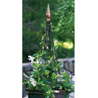 Medium Metal Polished Finial Garden Obelisk Trellis