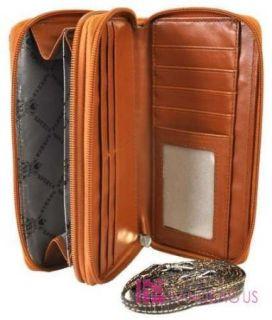 Western Rhinestone Concho Cross Paisley Textured Hobo Handbag Wallet