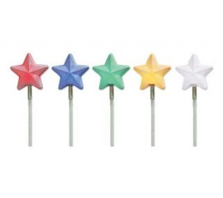 Set of 5 Battery Operated Star LED Pathmarkers —