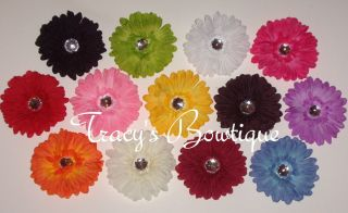 13 Crystal Spring Daisy Flowers Hair Clips for Interchangeable