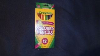 pkgs Crayola Colored Pencils 12ct Brand New School Home Office Party