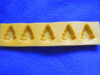 Candy Cream Cheese Mint Molds 5 Cavity Christmas Tree