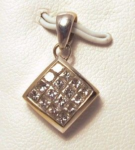 Diamonds 0 75ct VS2 14k White Gold Pendant