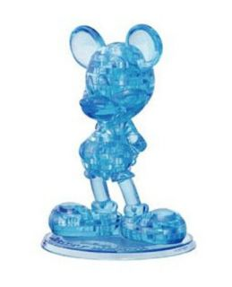 Crystal Gallery 3D Puzzle Mickey Mouse Blue Hanayama