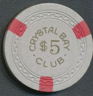 Crystal Bay Club Lake Tahoe 2nd Issue $5 Casino Chip R4