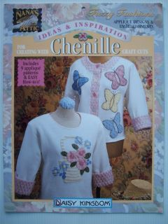 Chenille Craft projects applique clothing vests hats sweatshirts Daisy