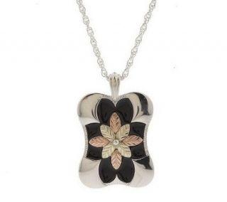 Black Hills Polished Pendant with 20 Necklace  Sterling/12K   J303823