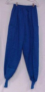 Scrubs Royal Blue Scrub Pants Knit Cuff Crest XS 131