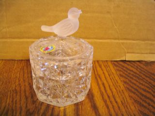 Hofbauer Lead Crystal Bird Collection Trinket Box