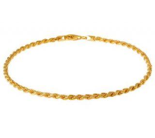 Veronese 18K Clad 20 Diamond Cut Rope Chain Necklace   J302297