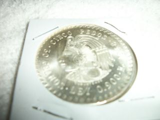 Mexico 1948 Silver Cuauhtemoc 5 Peso Coin