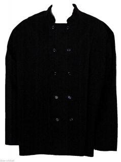Chefs Coat Jacket Sz 4XL Unisex Uniforms USA Black Double Breasted