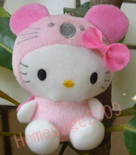 New Hello Kitty Cosplay CUDDY Pink Mouse Plush Doll Keychain Lovely