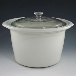 Bean Crock Pot Stoneware Replacement Slow Cooker Insert with Glass Lid