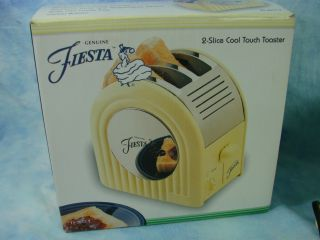 Box Vintage Antique Fiesta Ware 2 Slice Cool Touch Toaster Color Cream